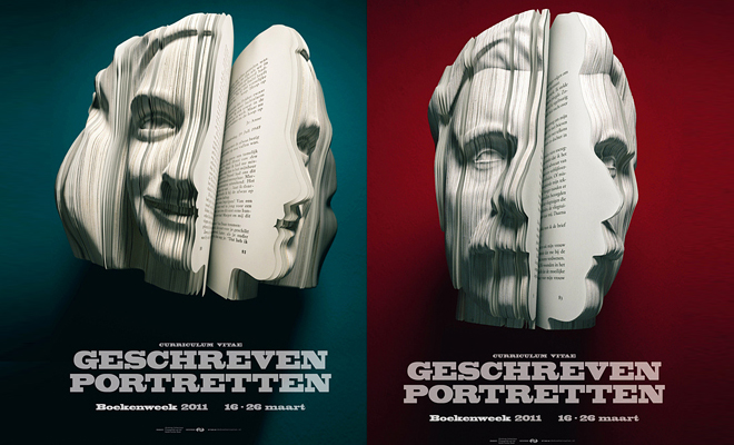 amazing book sculptures - by cutting papers