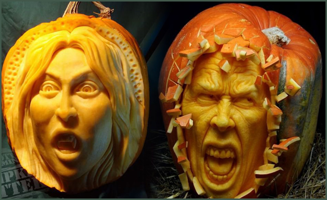 fruit and vegetable carvings
