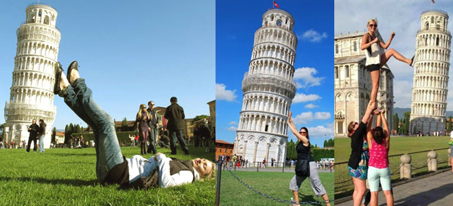 funny photos of leaning tower of pisa
