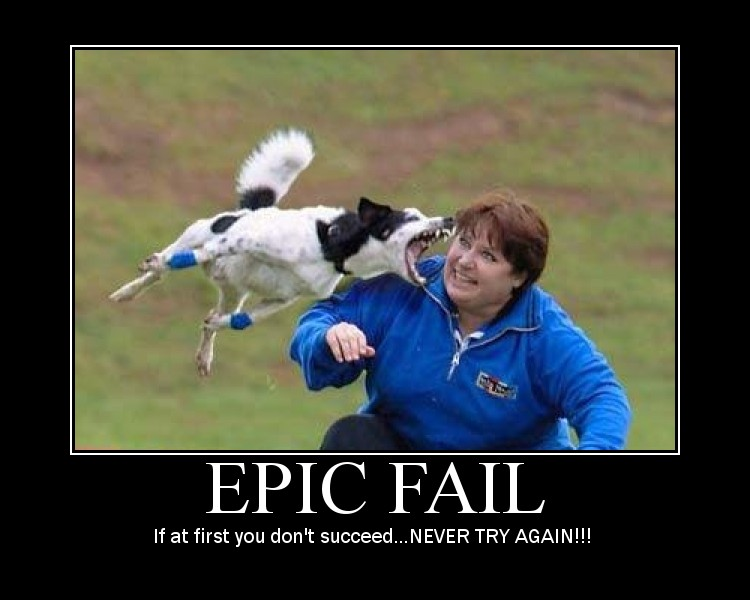 epic fail dog and woman