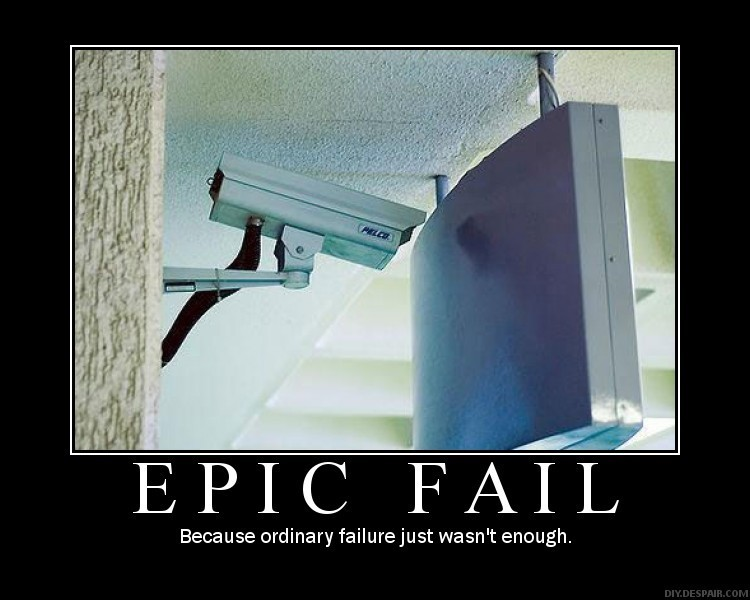 epic fail security camera