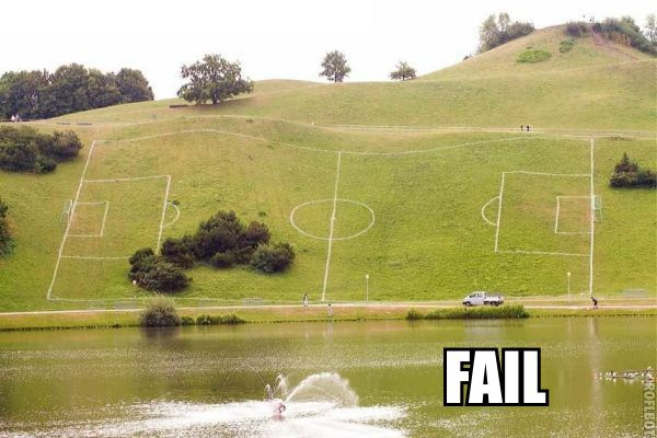 soccer field funny epic fail