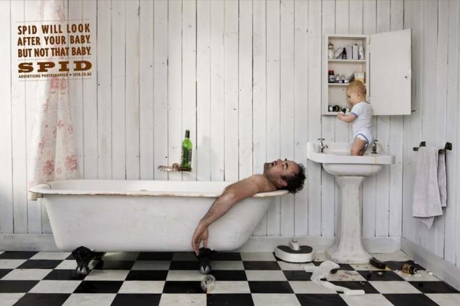 funny spidbath ad