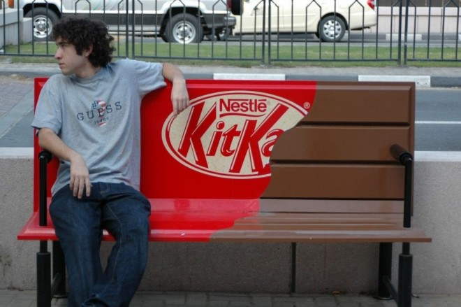 1 funny benches advertising