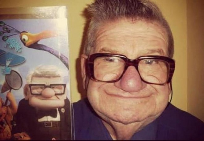 10 man looks like carl from up similar funny photography
