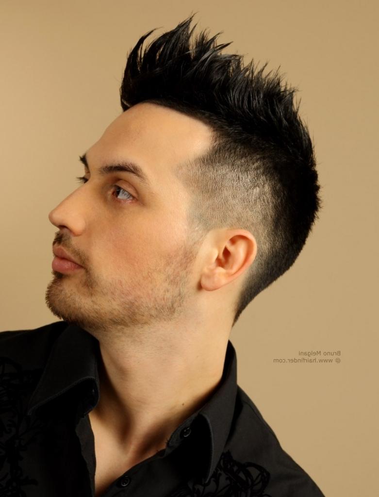 mohawk men short hairstyle