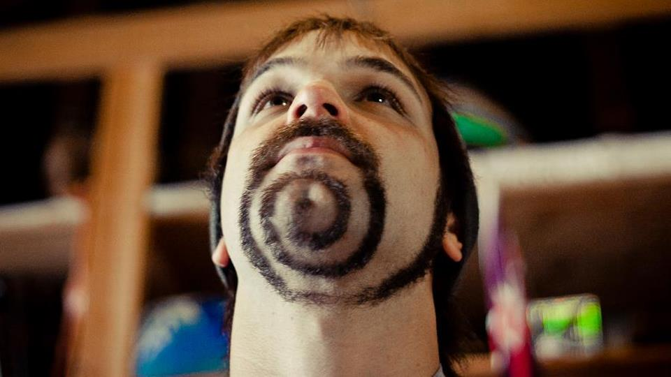 spiral funny mustache