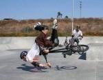 12 people falling off bikes