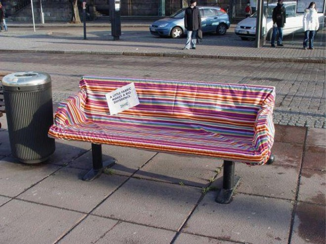 13 funny benches advertising