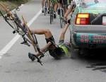 13 people falling off bikes