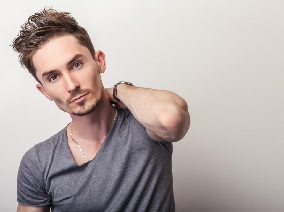 texture men short hairstyle