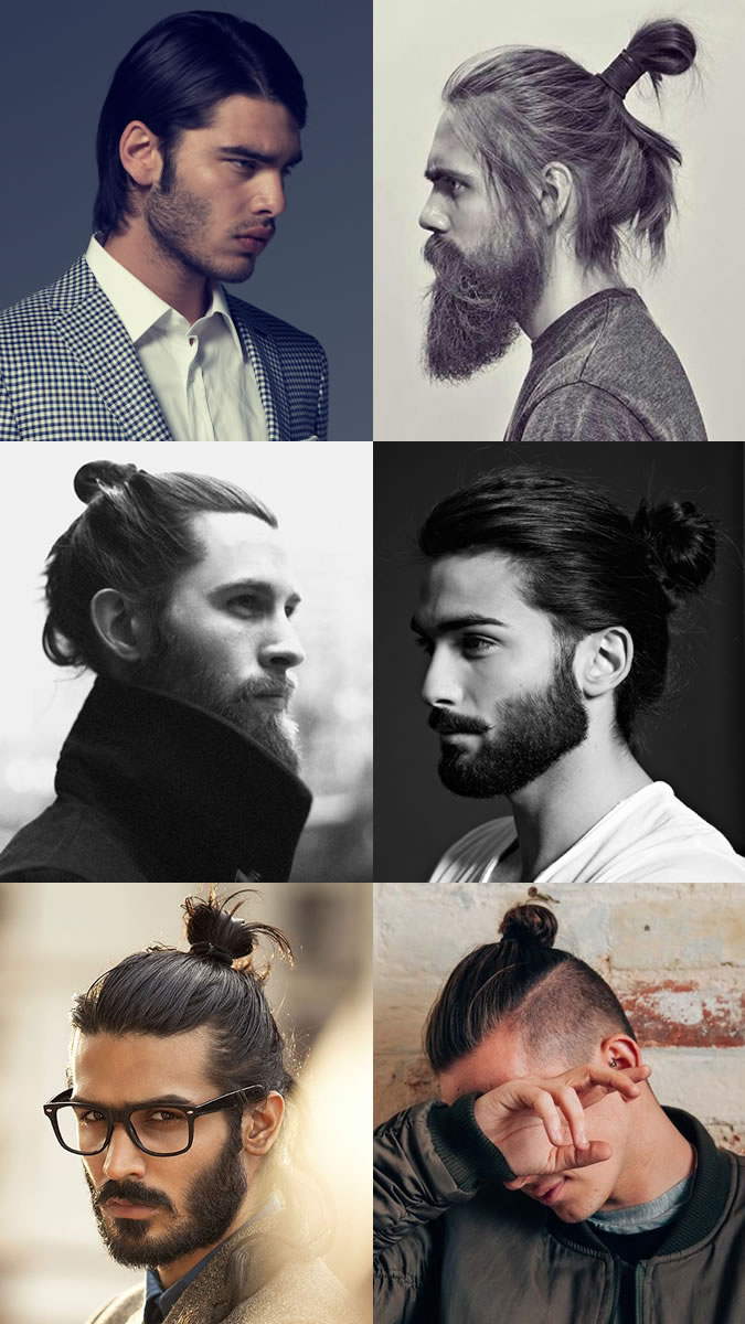 ponytail men long hairstyle