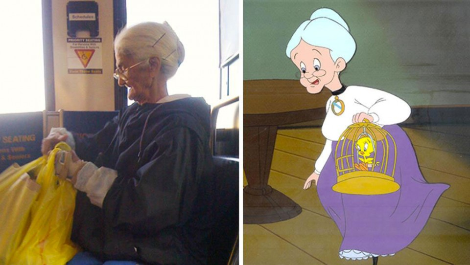 real life grandma from looney tunes similar funny photography