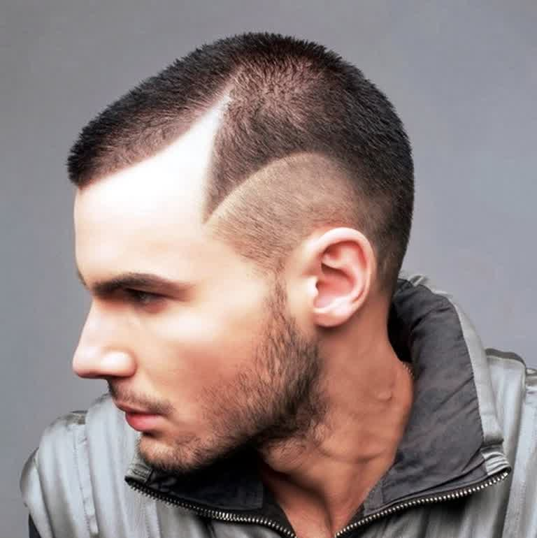 shaved men short hairstyle