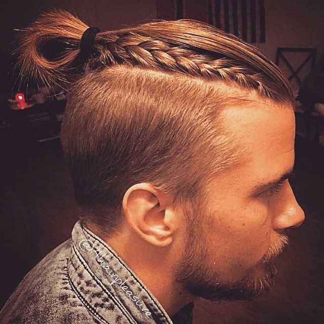 shaved braid men long hairstyle