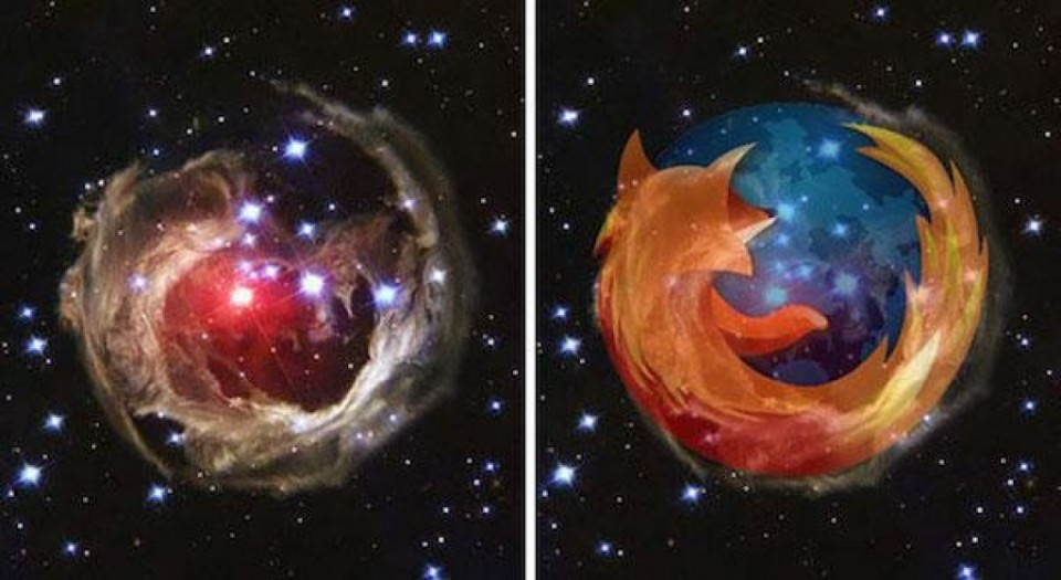 v monocerotis star and firefox funny similar things photography