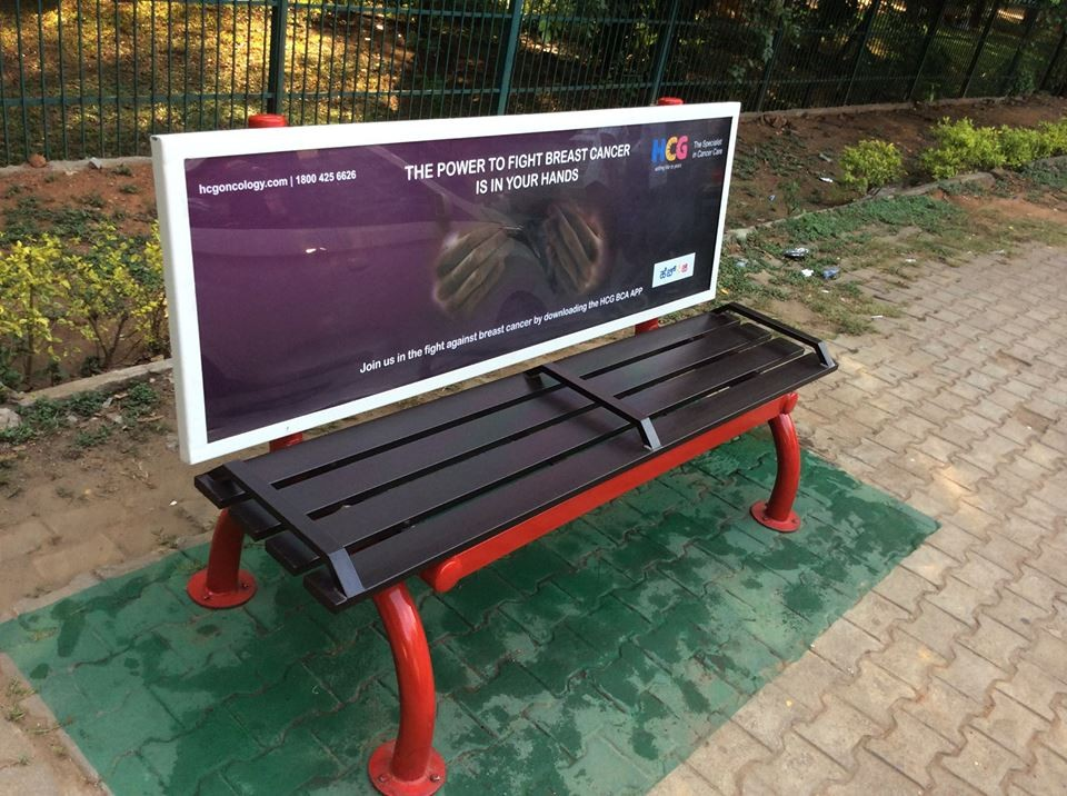 funny benches advertising