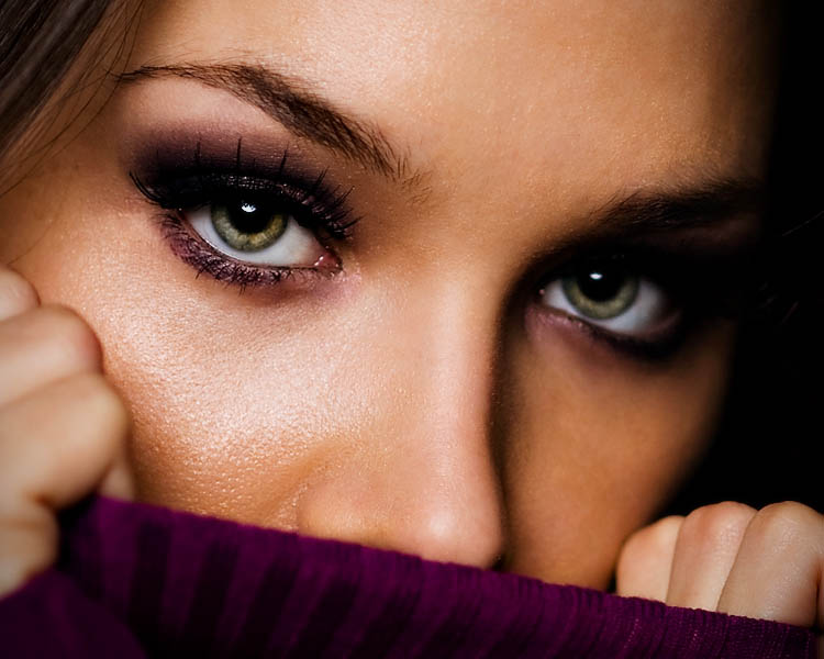 woman beautiful eyes by tim