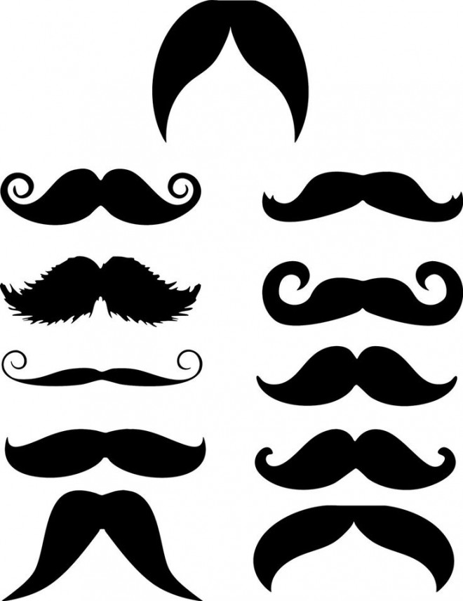 shapes funny mustache -  17