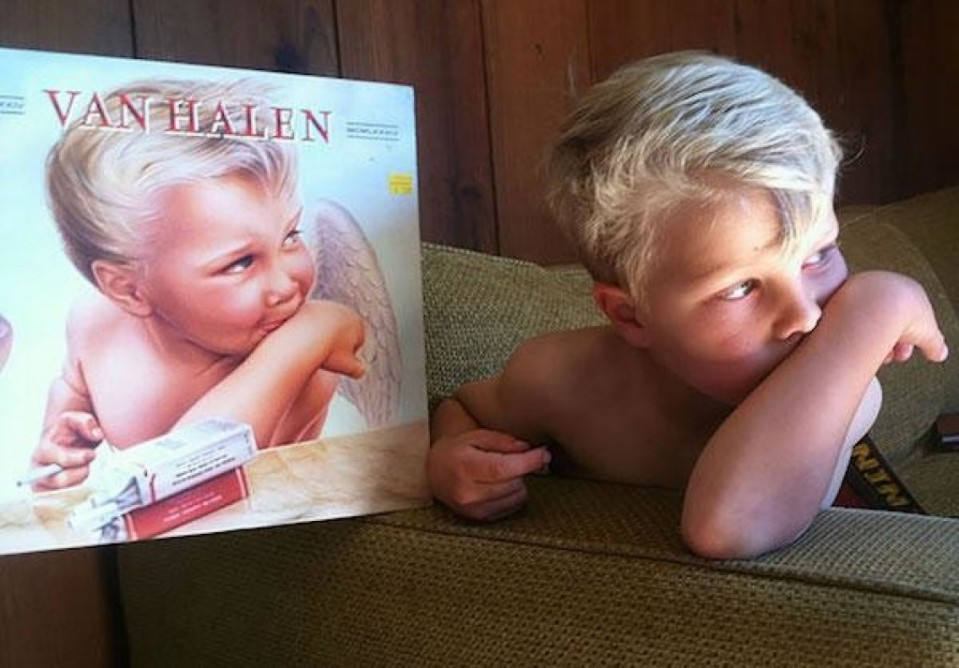 17 van halen album and this kid funny similar things photography