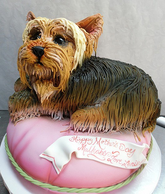 How to make a cake that looks like a dog