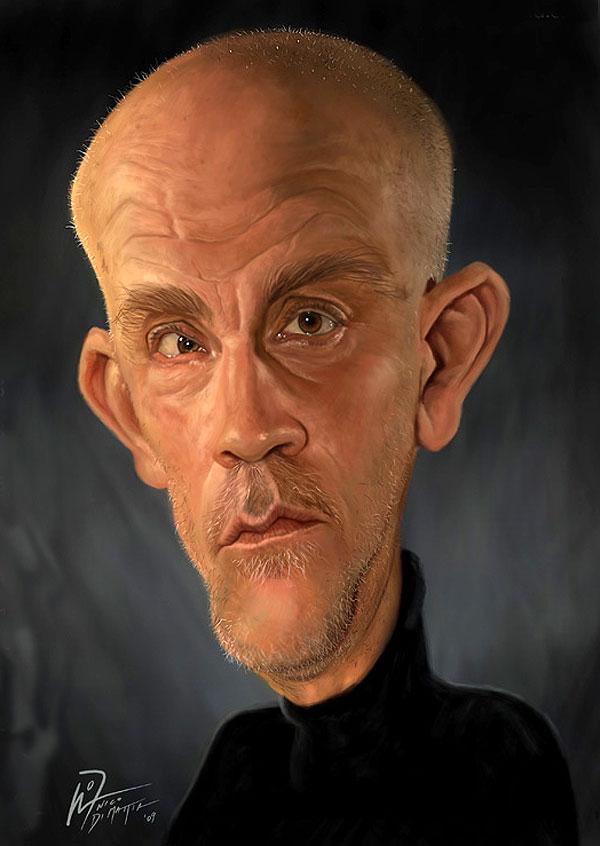 john malkovich funny caricature