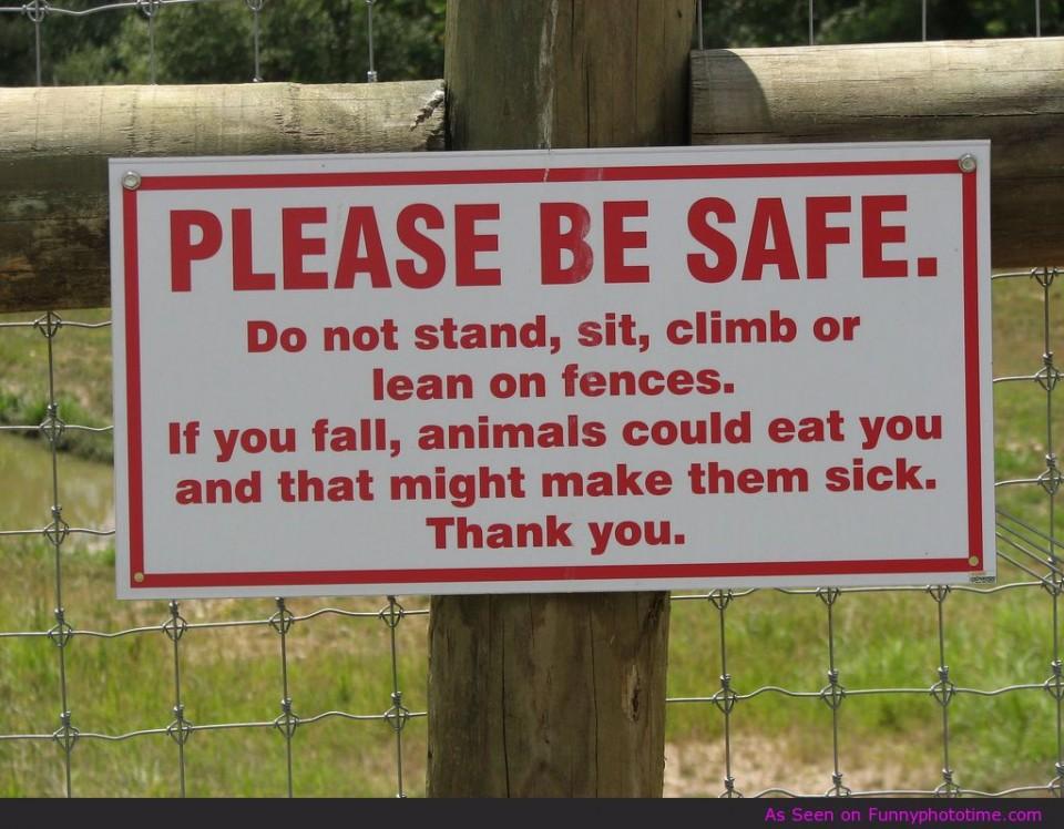 safe funny poster