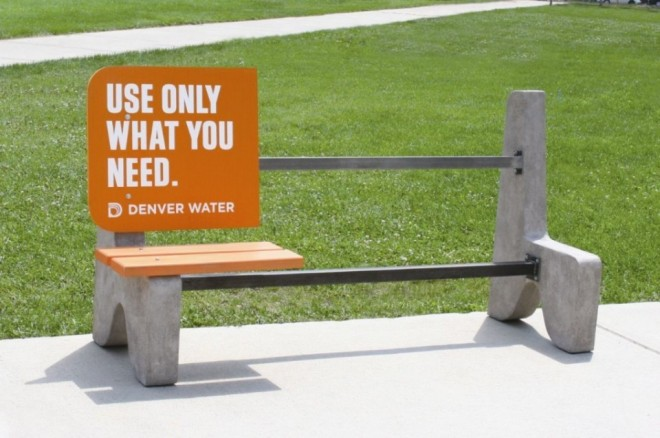 2 funny benches advertising