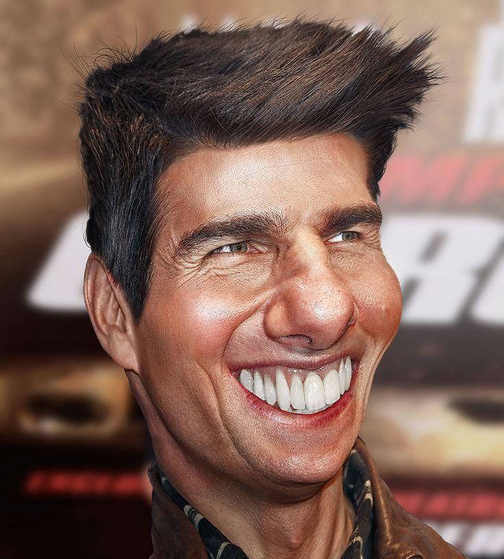 tom cruise funny caricature