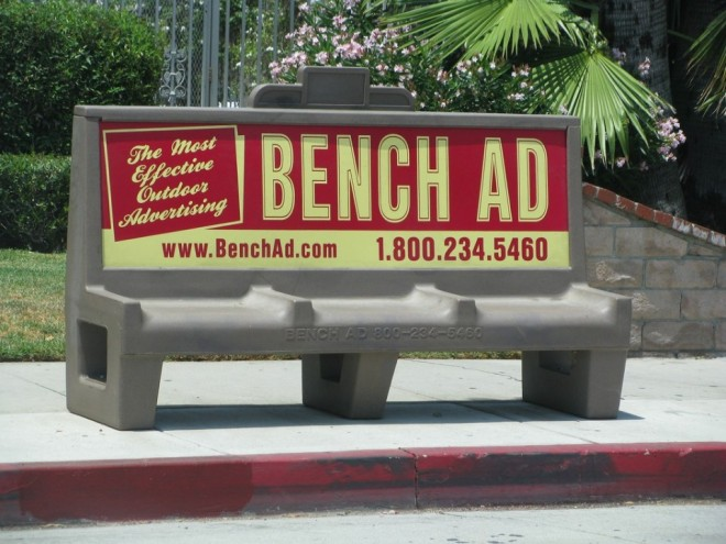 3 funny benches advertising
