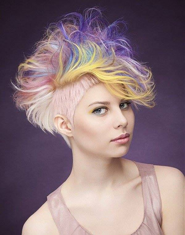 3 hot dyed hair funny photography