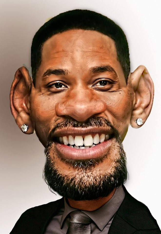 3 will smith funny caricature