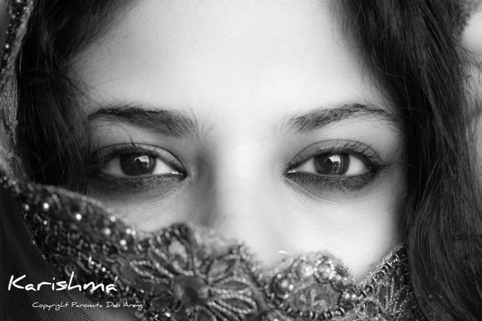 woman beautiful eyes by paromita