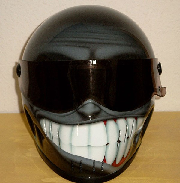 cool smily face motorcycle helmets