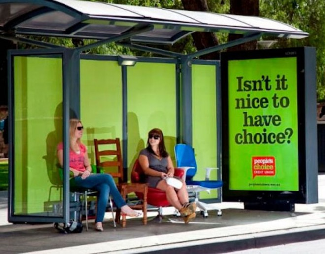 4 funny benches advertising