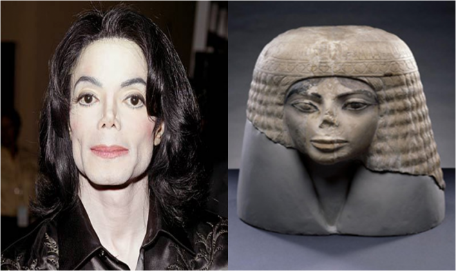 4 micheal jackson and egyptian statue similar funny photography