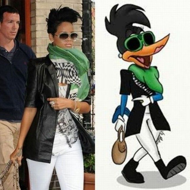 4 rihanna and duck funny similar things photography
