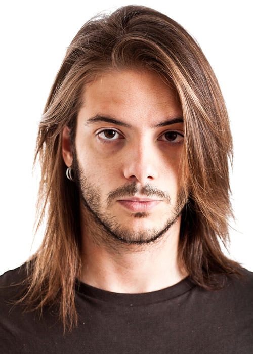rockstar men long hairstyle