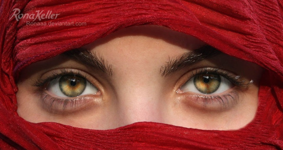 woman beautiful eyes by rona keller