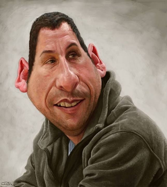 adam sandler funny caricature by paul moyse