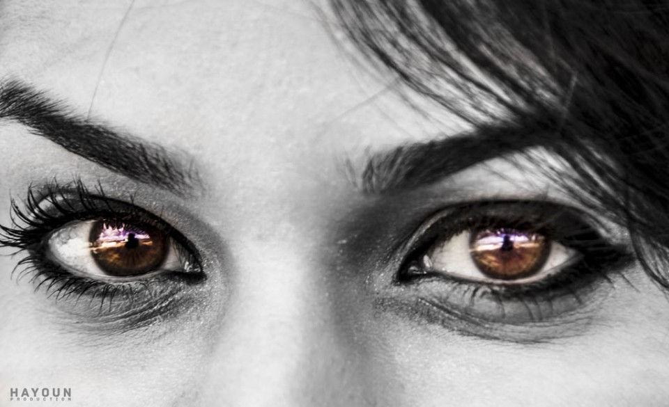 woman beautiful eyes hamza hayoun