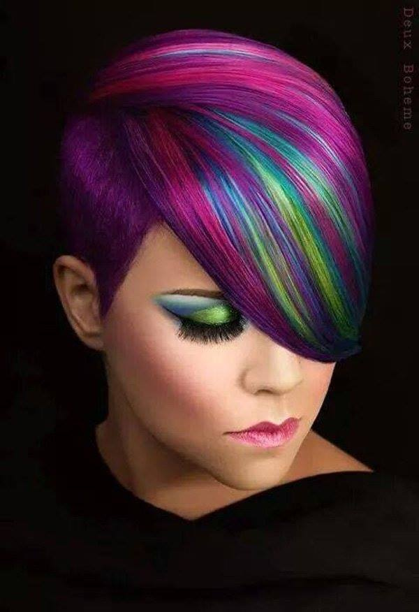 6 hot dyed hair funny photography