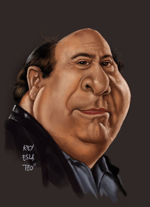 danny devito funny caricature by rommel