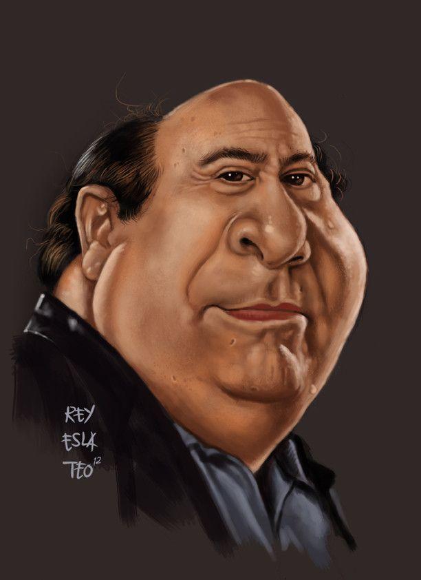 danny devito funny caricature by rommel