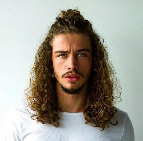 half pony men long hairstyle
