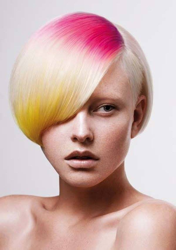 7 hot dyed hair funny photography