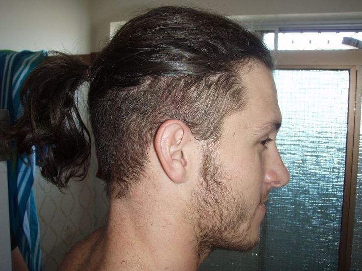 shaved men long hairstyle
