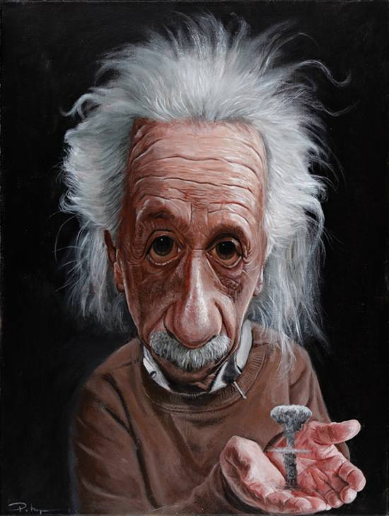 albert einstein funny caricature