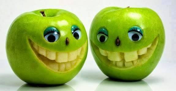 funny apple carving