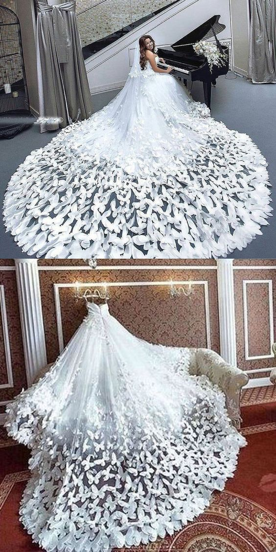 funny wedding dress butterfly